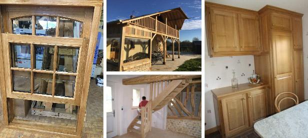 fenêtres, bois, meubles, escaliers, charpente, normandie